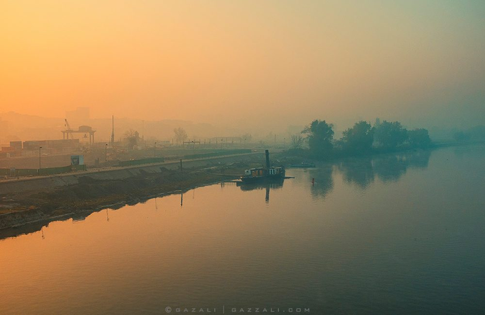The Sava river at dawn